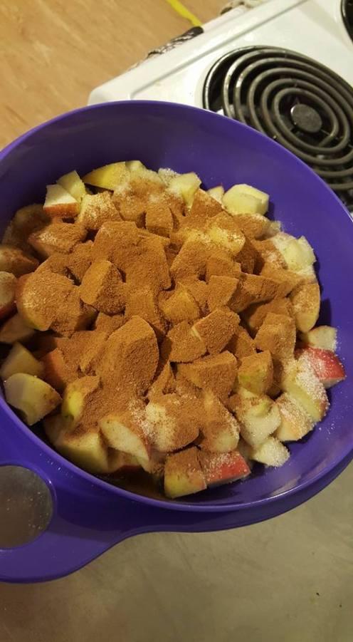 Apple Crisp apples and cinnamon