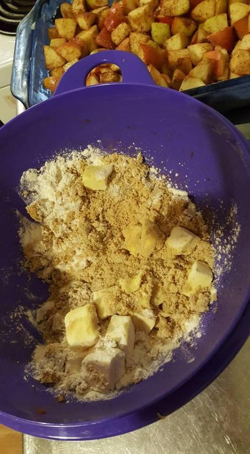 Apple Crisp butter flour sugar