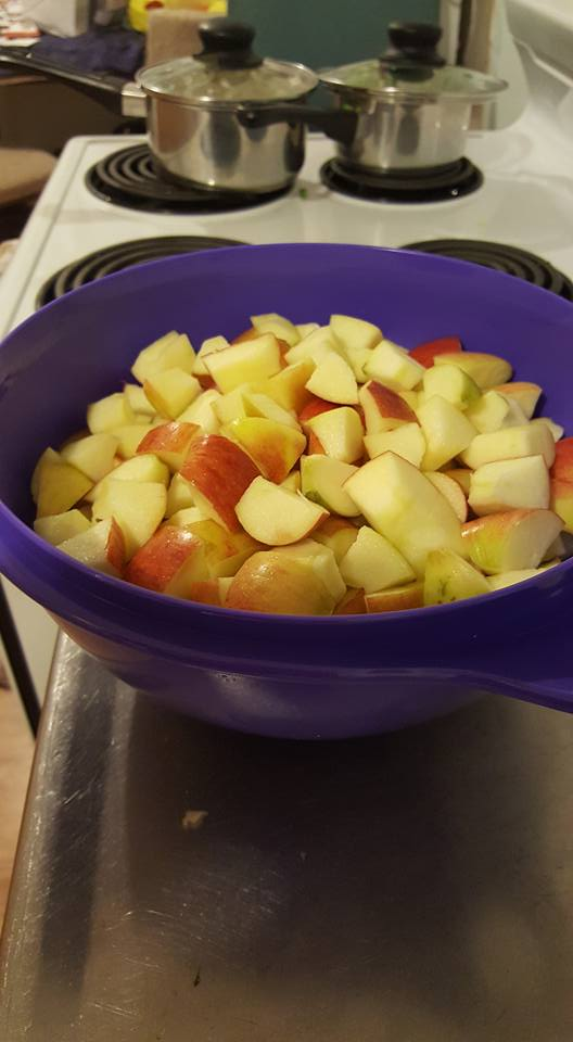Apple Crisp chopped apples