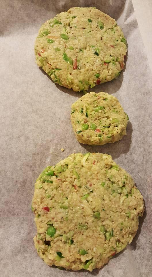 Raw Vege Patty bake