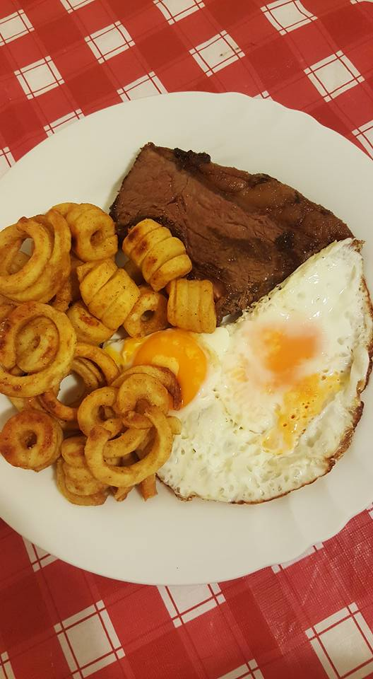 Steak Eggs and Chips