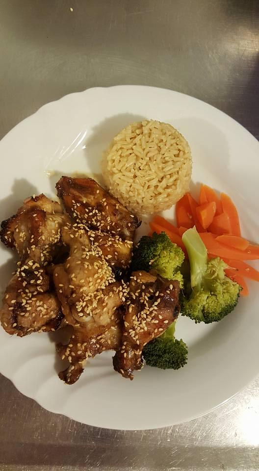 Sticky chicken nibbles dinner 2