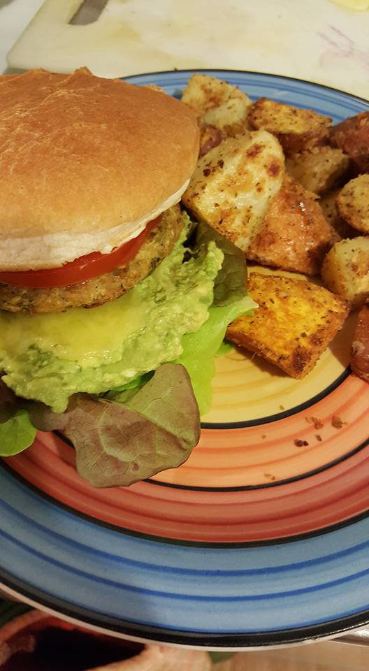 Vege Burger with the Works