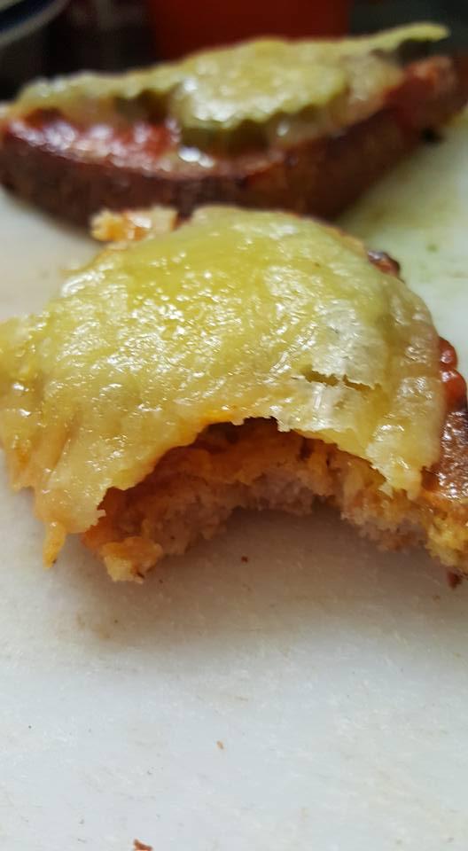 Cheeseburger Melt closeup