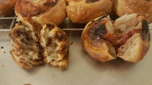 Marmite scrolls and pizza scrolls open